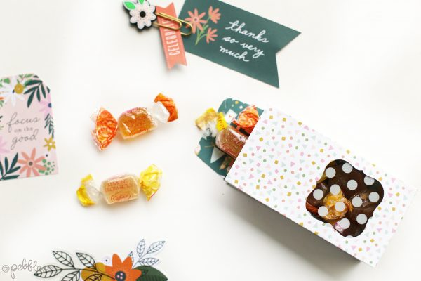 """create quick and easy gift boxes for your kid's teacher with this tutorial from @evapizarrov using the new @pebblesinc line """"This Is Family"""""""