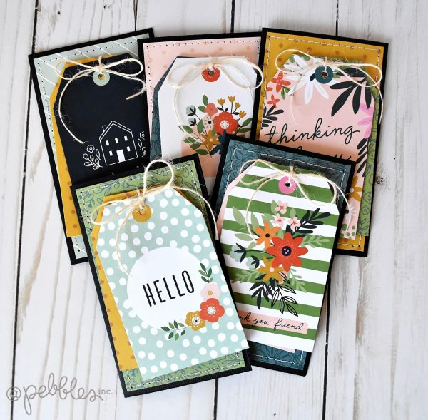 "A Set of Cards Made for Gifting by Wendy Sue Anderson featuring the ""This is Family"" collection by @PebblesInc."