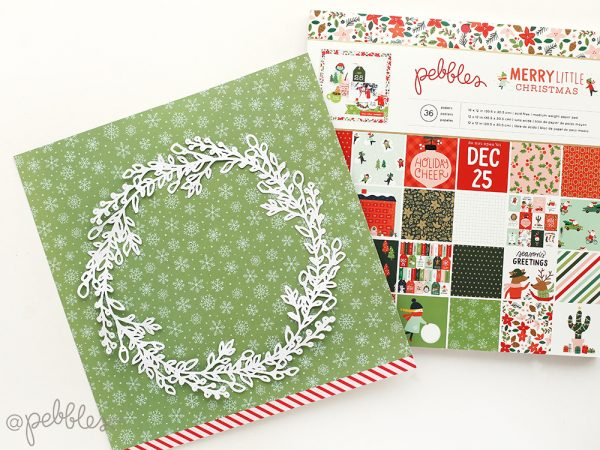 Create a fun and easy Christmas Layout with this tutorial from @evapizarrov using the new Merry Little Christmas line from @pebblesinc