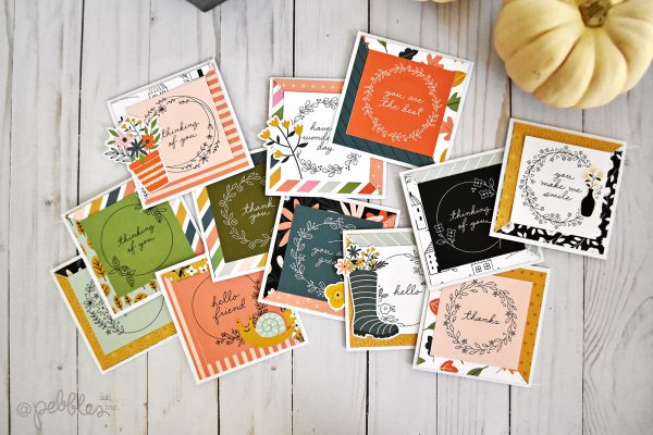 "Thankful cards by Wendy Sue Anderson featuring the ""This is Family"" Collection by @PebbleInc."