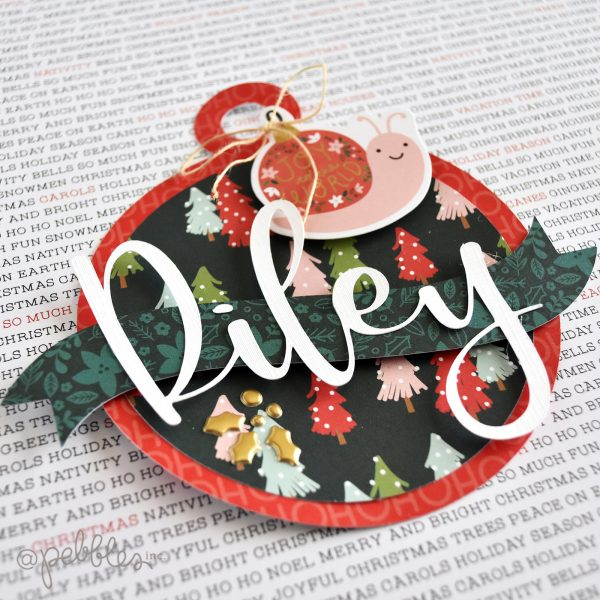 """Oversized Oranment Tags by Wendy Sue Anderson for @PebblesInc. featuring the """"Merry Little Christmas"""" collection"""