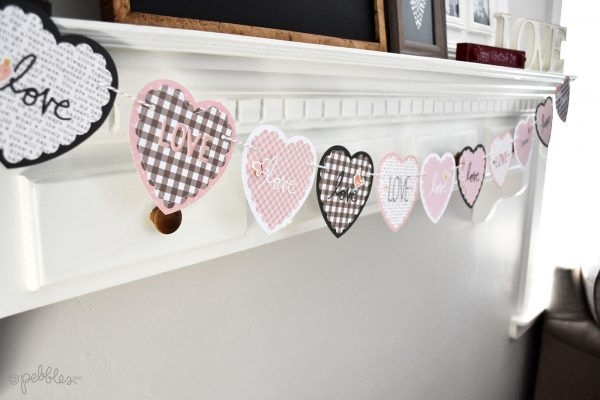 Valentine's Day HEART banner by Wendy Sue Anderson for @PebblesInc.