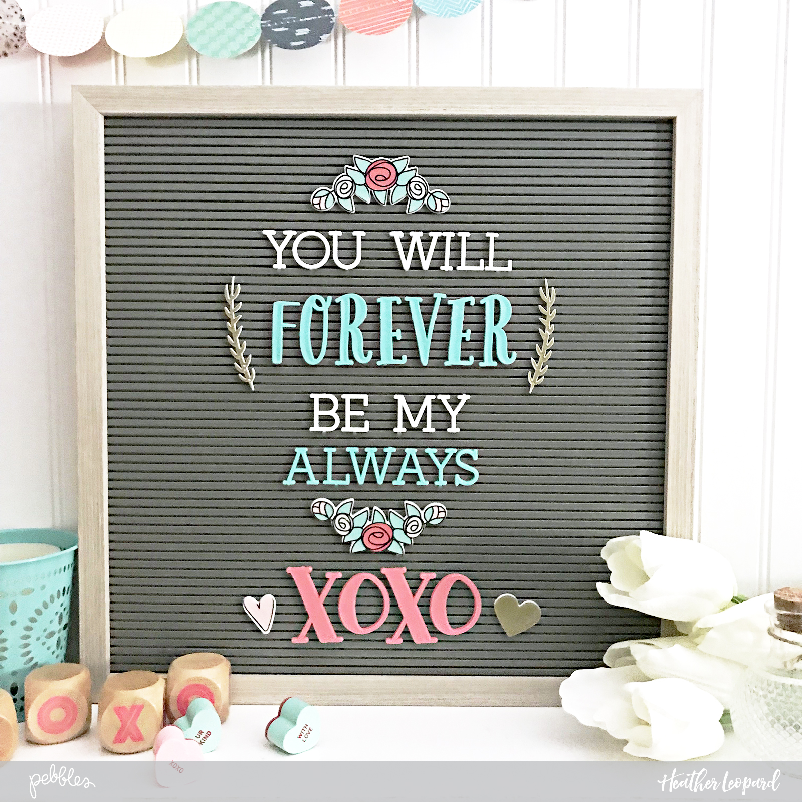 Heather Leopard Valentine S Day Letterboard Love Forever My Always