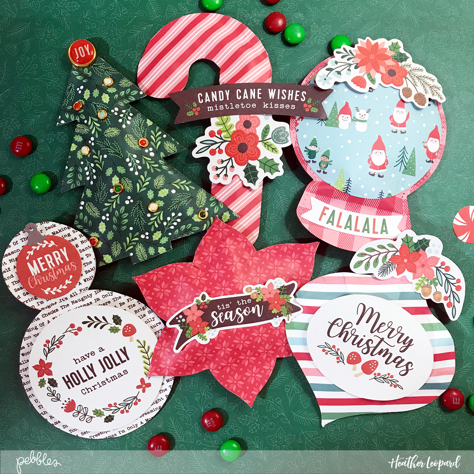 Christmas Treats by @HeatherLeopard using the @PebblesInc #cozyandbright collection #madewithpebbles #Christmas #gifts #Christmastreats